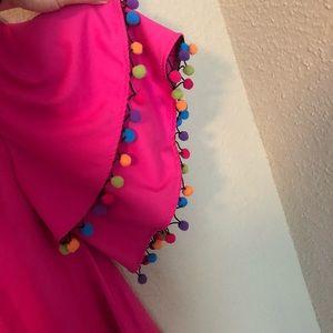 Love Riche Dresses - NWT LOVERICHE Pink Dress w/ Pom Pom Trim